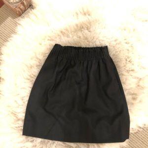 Black Wool J Crew Mini Skirt